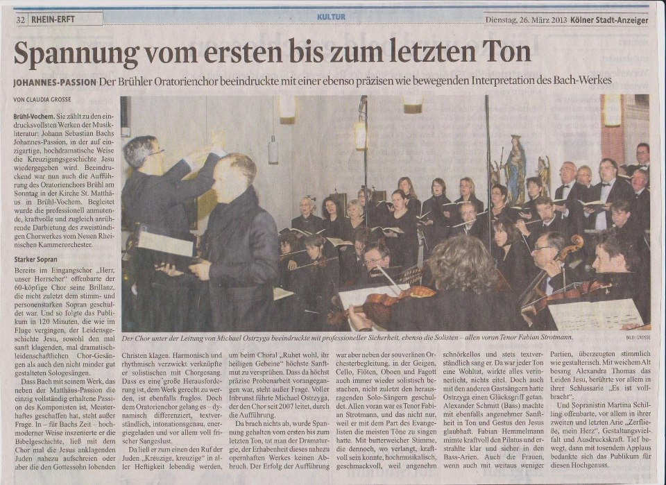 Kölner Stadt-Anzeiger Artikel 26.03.2014